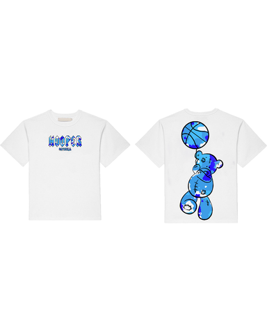 Blue Camouflage Mascot T-Shirt by HOOPER