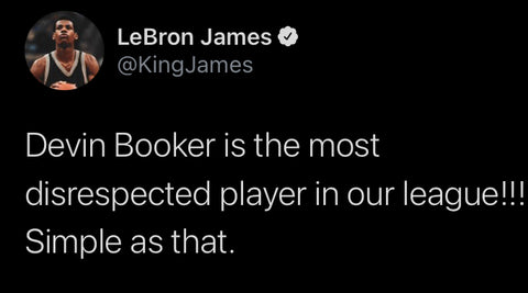 Lebron James Voices His Opinion About Devin Booker Being Snubbed