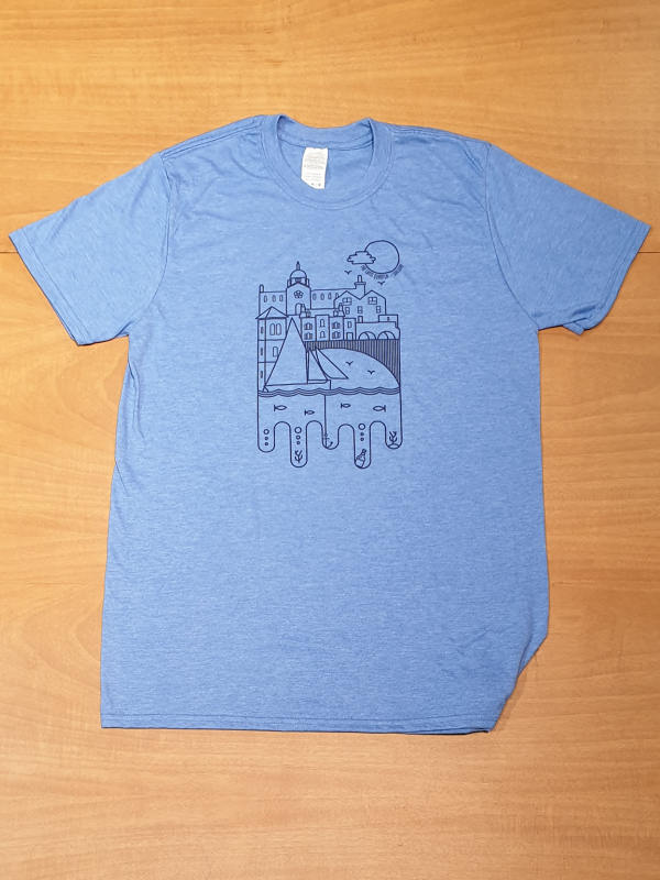 Mens Spanish Arch tshirt blue