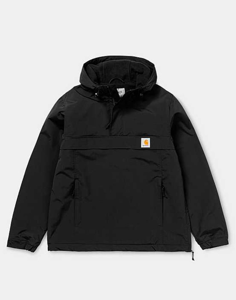 Carhartt classic fleece lined Nimbus Pullover Jacket in black