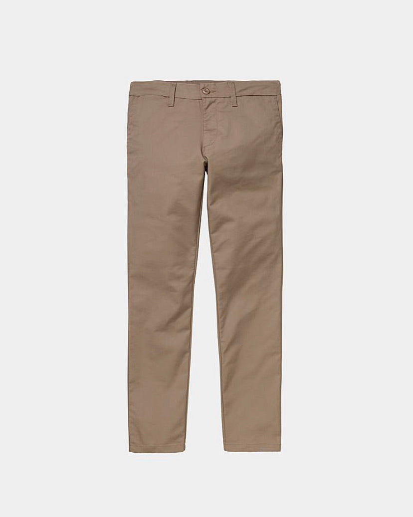 Carhartt Sid Pant - Leather (rinsed)