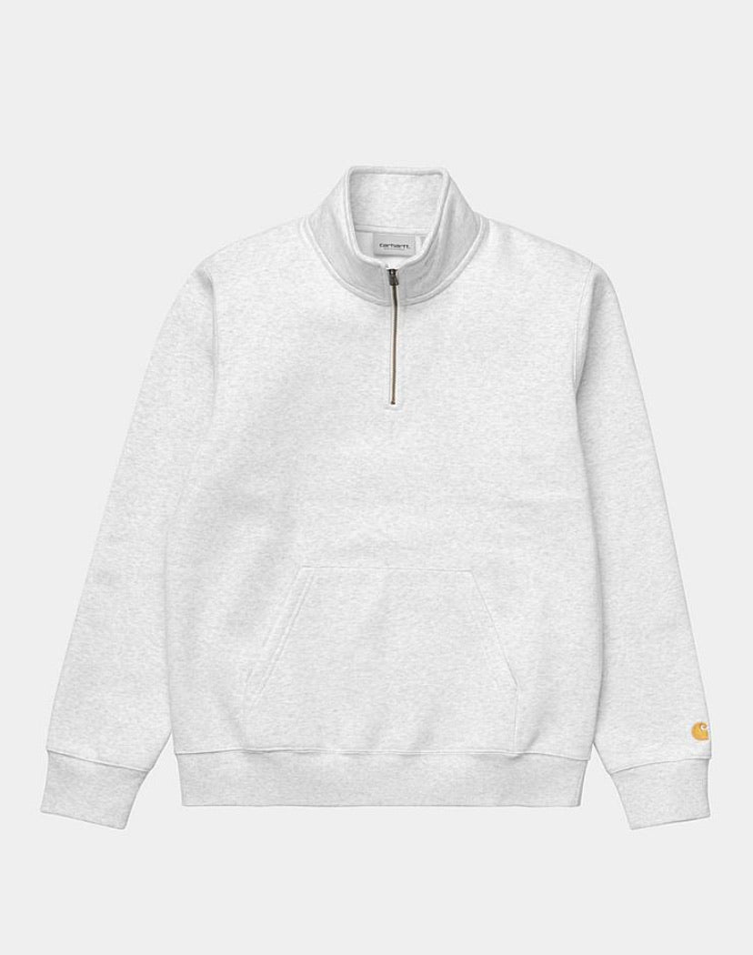 Carhartt Chase Neck Zip Sweatshirt - Ash Heather