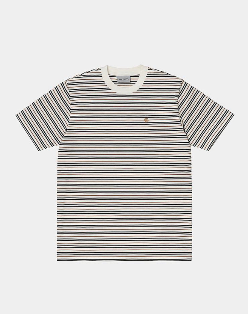 Carhartt Akron Stripe T-shirt - Wax