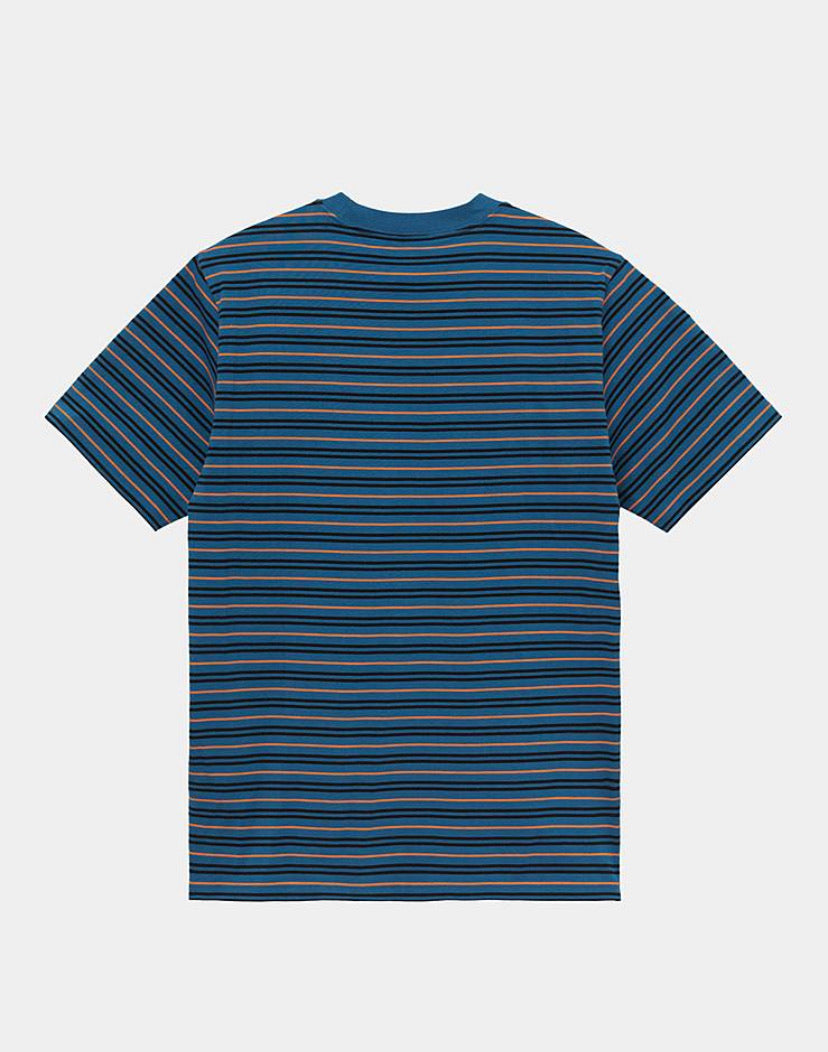 Carhartt Akron Stripe T-shirt - Shore