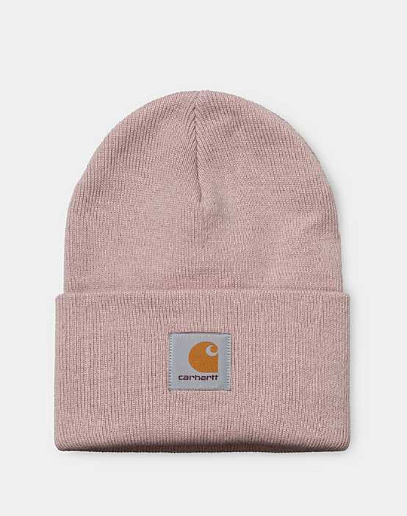 The iconic Carhartt Watch Hat Beanie in Frosted pink