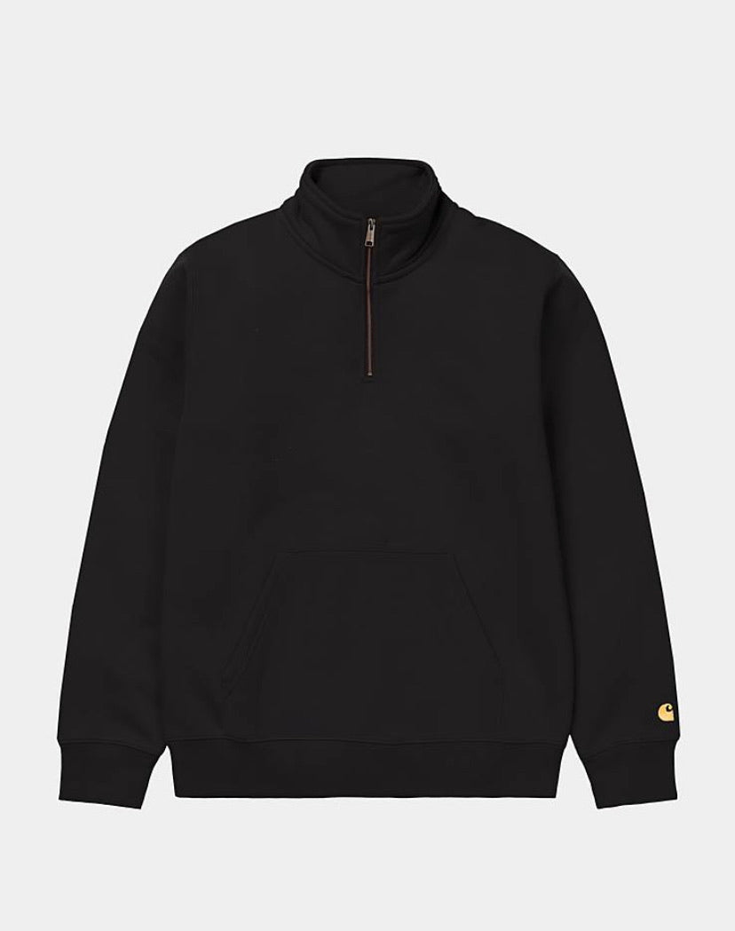 Carhartt Chase Neck Zip Sweatshirt - Black