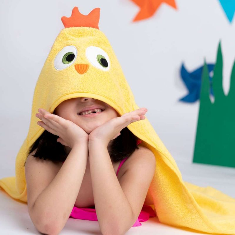 Kids Hooded Towel - Bird