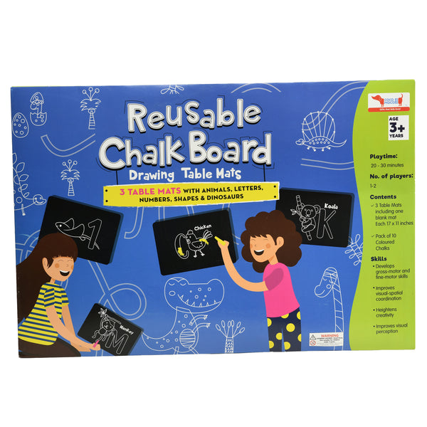 CocoMoco Kids Chalk Board Reusable table mats