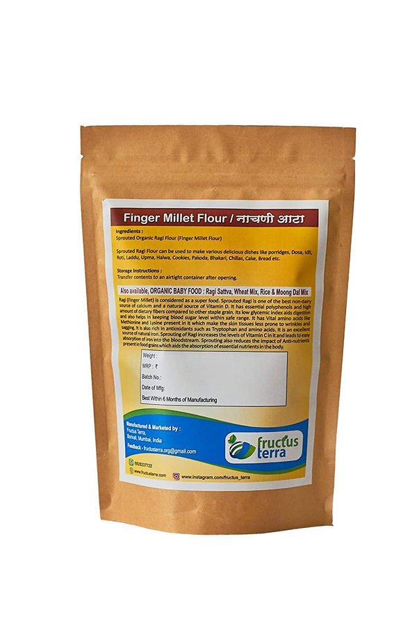 Certified Organic Sprouted Ragi/Nachani/Finger Millet Flour