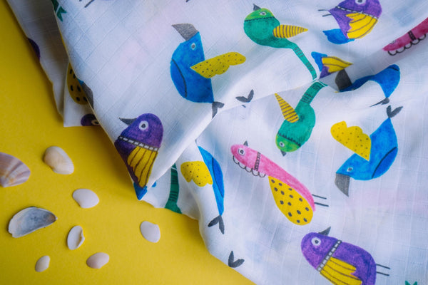 Birds Single Swaddle, 50