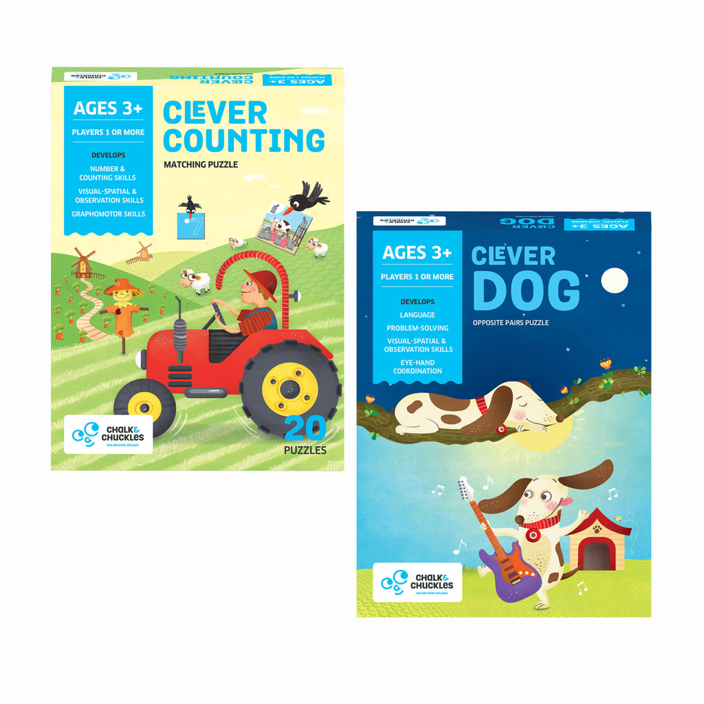Clever Series Combo Set of 2 Puzzles- Counting & Opposites