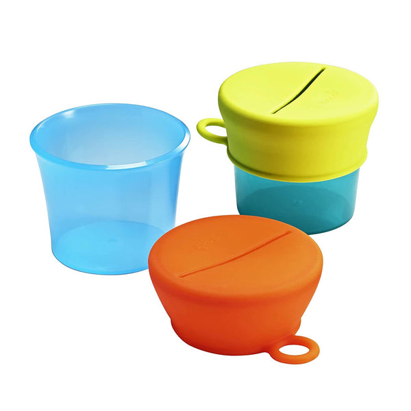 Boon Snug Snack Container Blue Multi