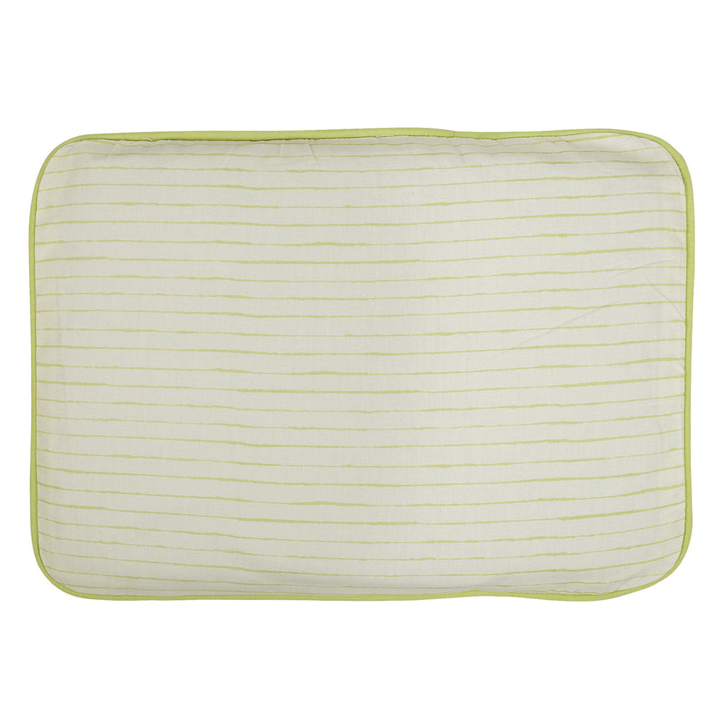 Shadow Lime Line Head Pillow Cover With Mustard Filler Pouch