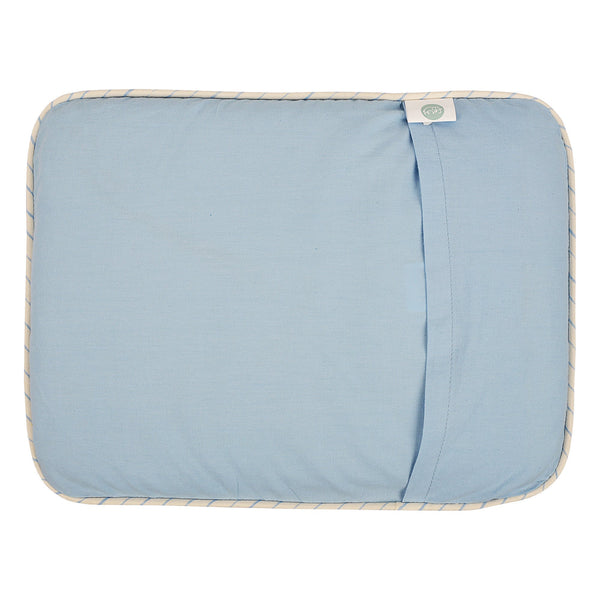 Dusk Blue Head Pillow Cover With Mustard Filler Pouch