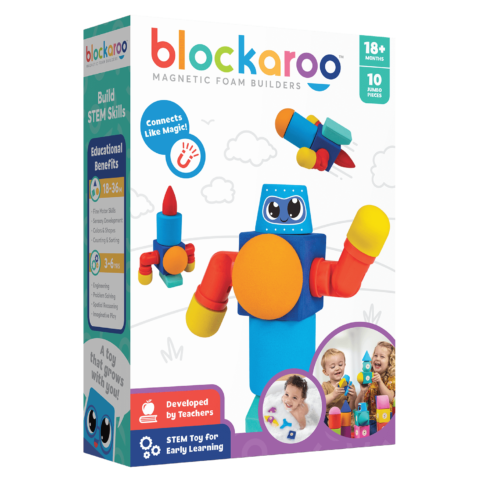 Blockaroo Magnetic Foam Blocks - Small - Robot