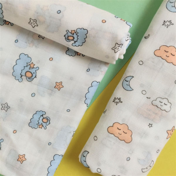 Muslin Cotton Swaddles (Pack of 2) -  Sleepy Jumbo  - 1