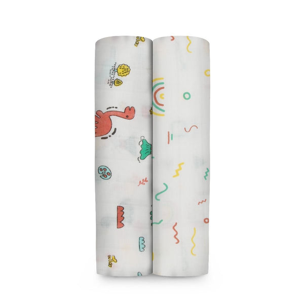 Muslin Cotton Swaddles (Pack of 2) -  Stone Age