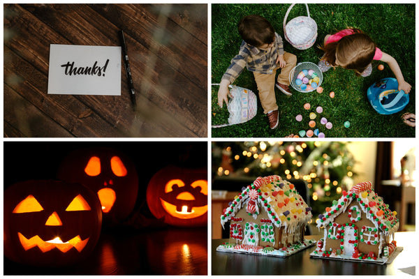 holiday craft collage