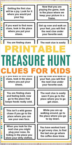 printable treasure hunt