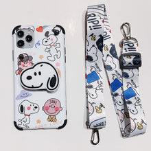 Load image into Gallery viewer, Snoopy Socket Pop Phone Case with Strap