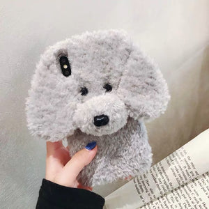 3D Fluffy Pluffy Puffy Puppy Phone Case