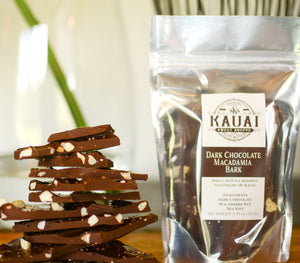 Dark Chocolate Macadamia Bark
