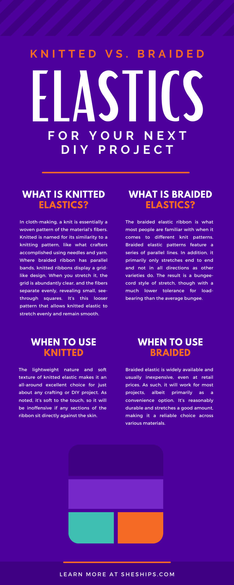 Knitted vs. Braided Elastics for Your Next DIY Project