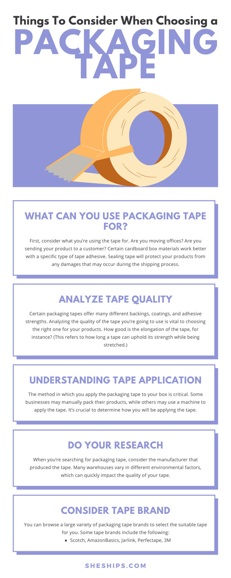 Things To Consider When Choosing a Packaging Tape