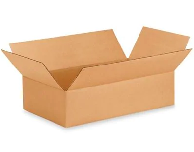 "19 x 12 x 4"" Corrugated Boxes, 25 Per Bundle"