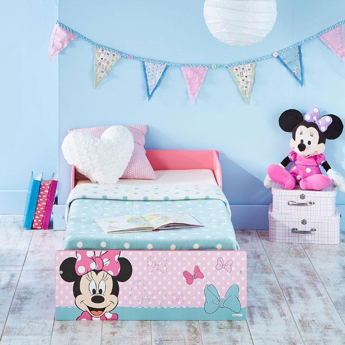 Worlds Apart Minnie Mouse - Juniorbed - Roze