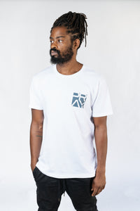 Stacked Flagship Tee Hale Navy
