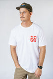 Stacked Flagship Tee Red