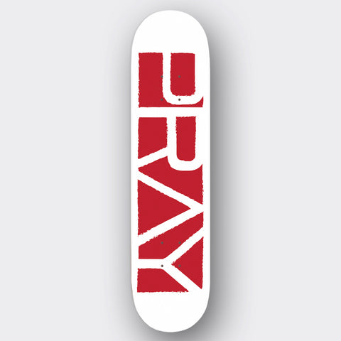 Grunge Flagship Deck Red on white
