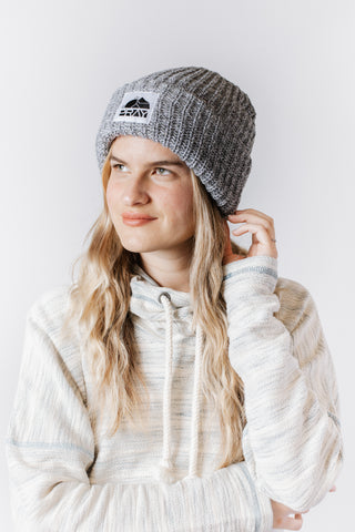CoreTag Large Knit Beanie Grey