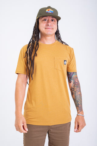 Core Tag Pocket Tee Gold Heather