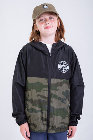 Youth' Grid two toned Camo Windbreaker