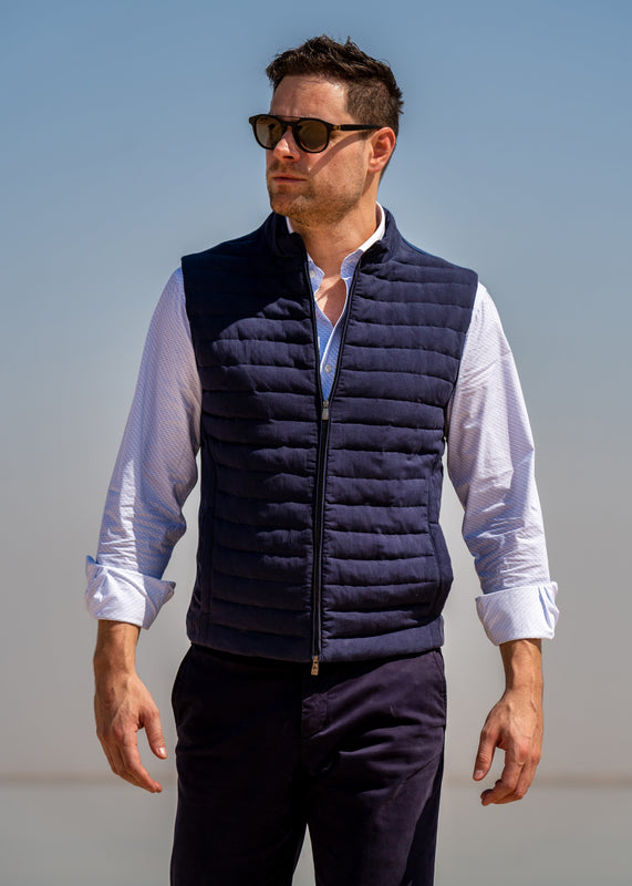 Corneliani mens winter collection vest or waistcoat with elegant shirt