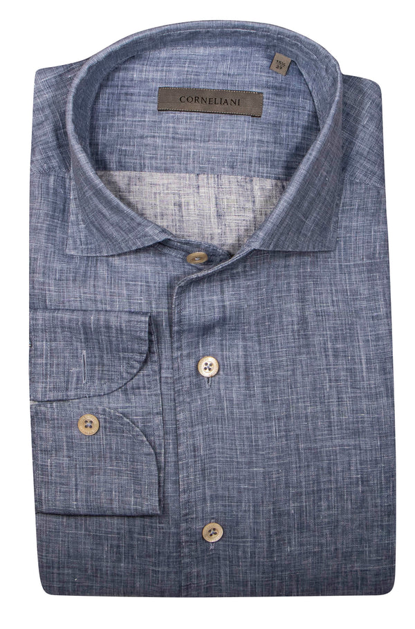 CROSSHATCH LINEN SHIRT