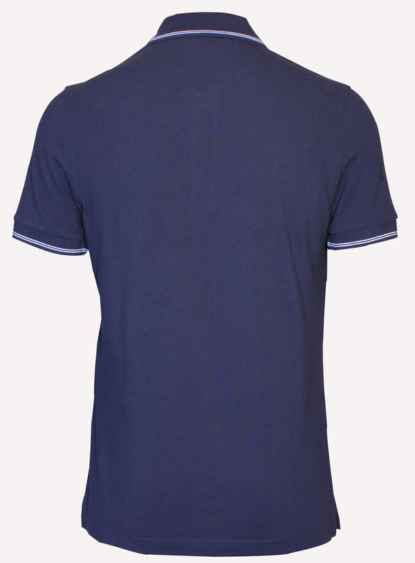 Corneliani mens summer navy blue casual polo shirt