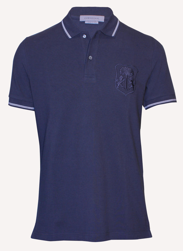 Corneliani mens navy casual polo shirt