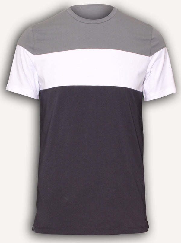 THREE-COLOR STRETCH COTTON T-SHIRT