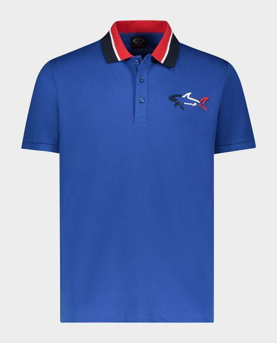 ORGANIC COTTON POLO WITH 3D SHARK
