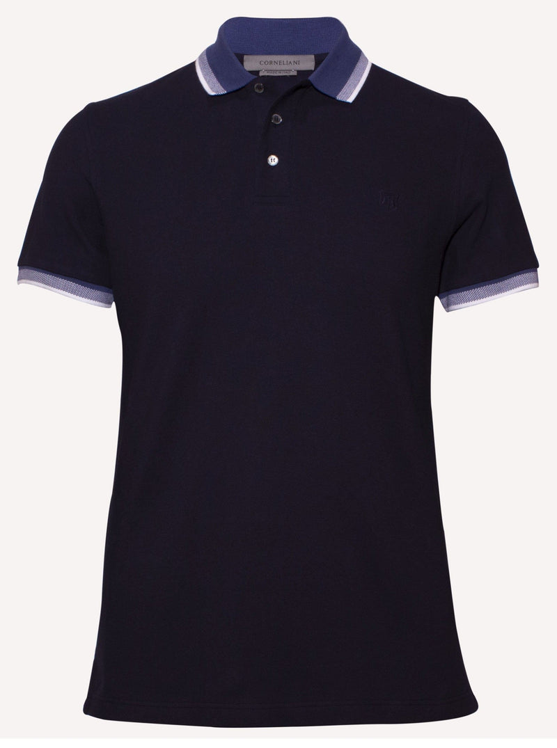 Corneliani men summer casual polo shirt