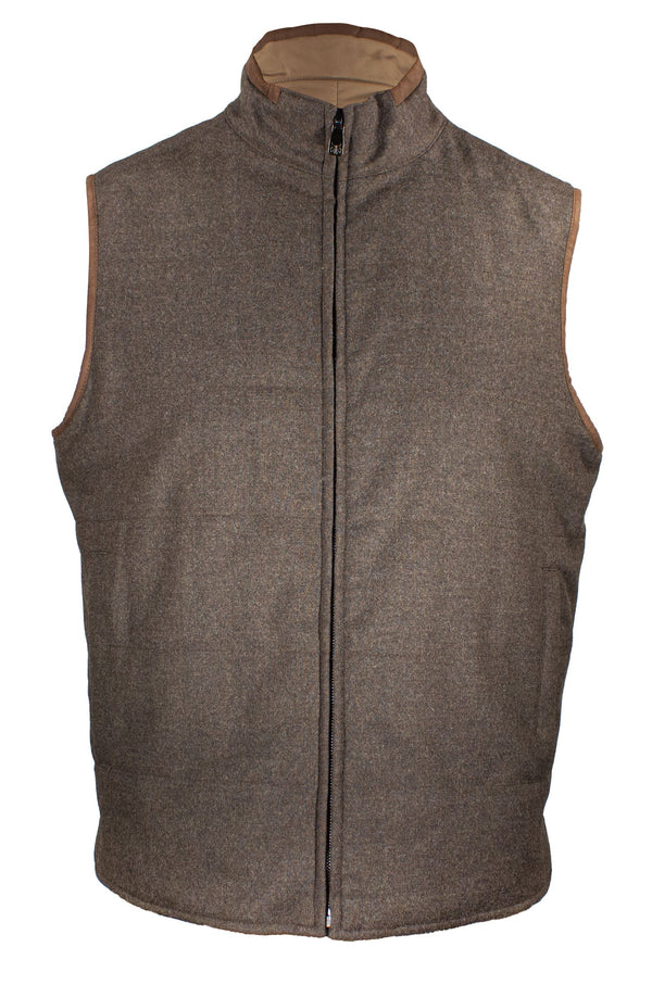 CORNELIANI REVERSIBLE QUILTED VEST