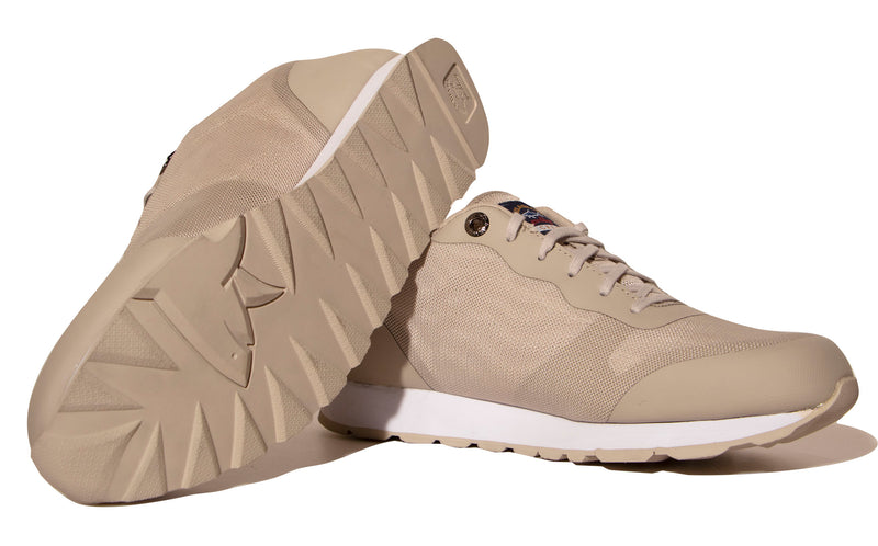 LEATHER AND FABRIC SPORT SNEAKERS