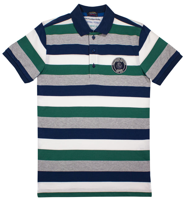 MULTI COLOR POLO SHIRT WITH PAUL&SHARK PATCH
