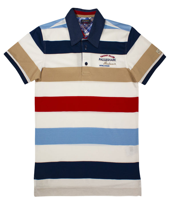 MULTI COLOR POLO PAUL&SHARK PRINT