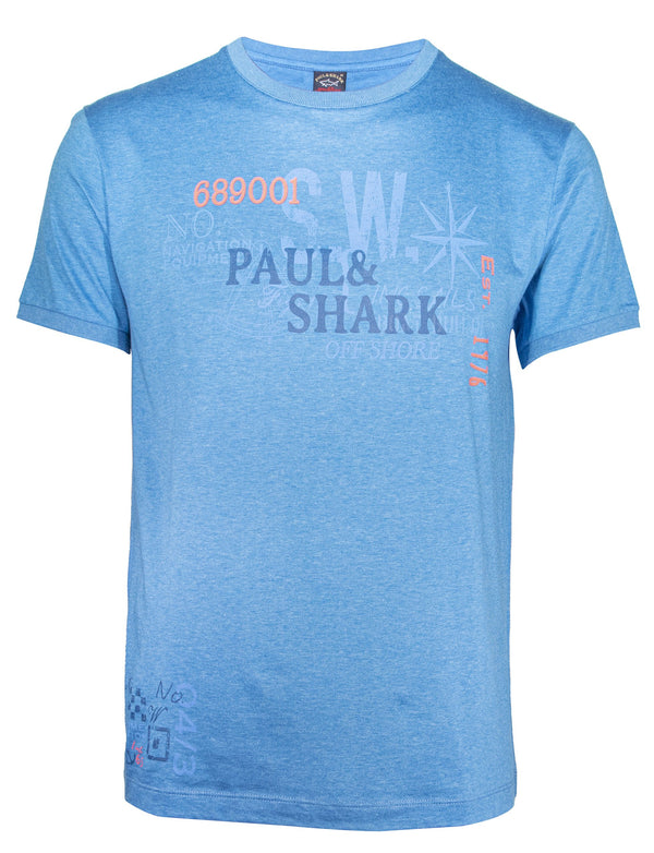 PAUL & SHARK GRAFFITI PRINTED T-SHIRT