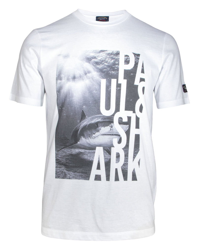 COTTON T-SHIRT WITH SHARK PRINT