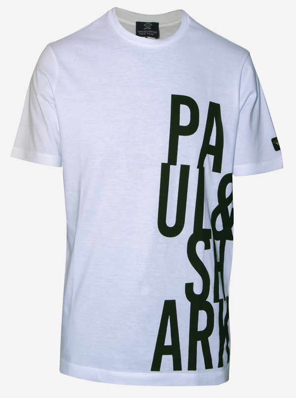 COTTON T-SHIRT WITH PAUL&SHARK PRINT